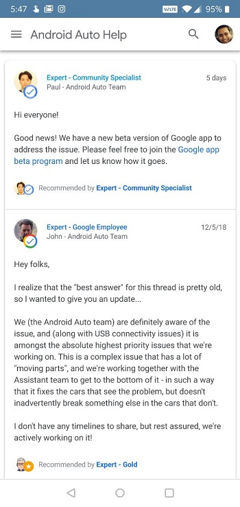 android-auto-issue-fix