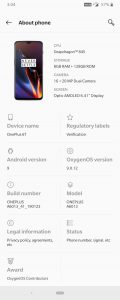 oneplus_6t_oos_9.0.12_about