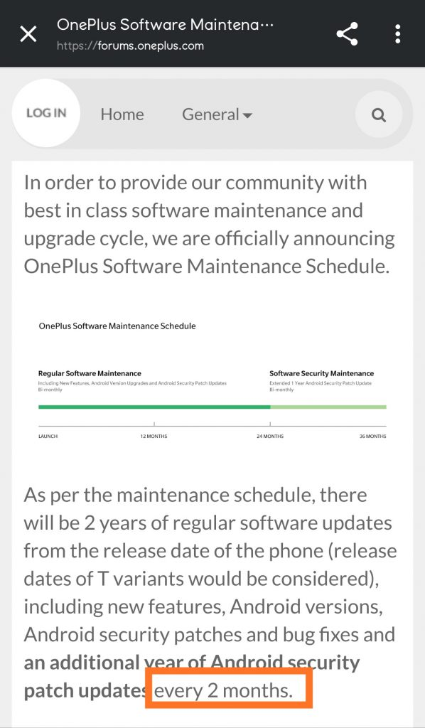 onePlus_software_maintenance_schedule_bi_monthly