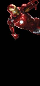 Galaxy S10 cutout iron man wallpaper 1