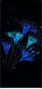 galaxy-s10-cutout-glow-flowers-wallpaper
