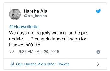 huawei-p20-lite-pie-tweet