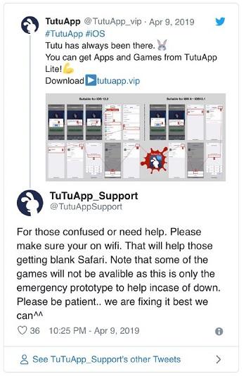 TutuApp Lite fix in works] TutuApp offers 'TutuApp Lite