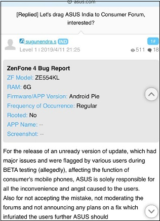 zenfone4-pie-bug-report