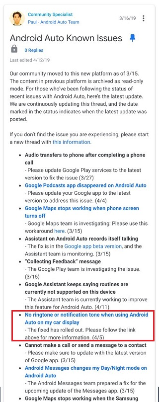 Updated] Android Auto no message notification sound & call