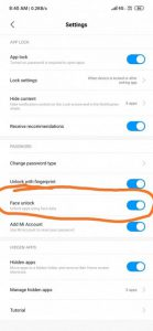 Redmi-Note7-MIOUI10.3.5.0-update-India-faceunlock-for-apps