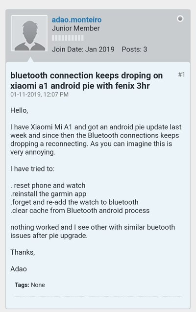 Android Pie Bluetooth pairing/connectivity issues might