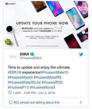 EMUI 9 1] Huawei Y9 2019 EMUI 9 (Android Pie) update rolls out