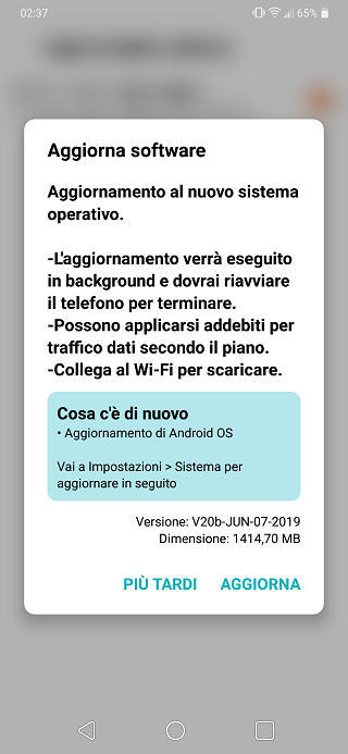 Arrives in Italy] LG G7 ThinQ Android Pie (9 0) update may