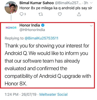 View 20 & View 10 as well] Honor 8x & Honor 10 Android Q updates