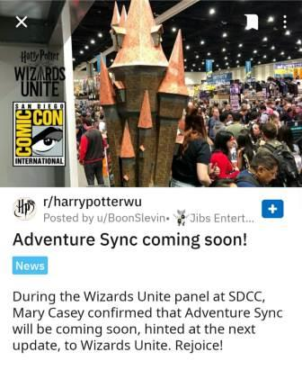 Wizards Unite Adventure Sync