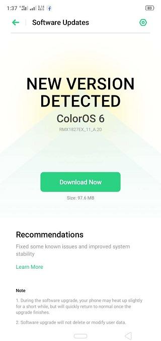 Realme3i-update