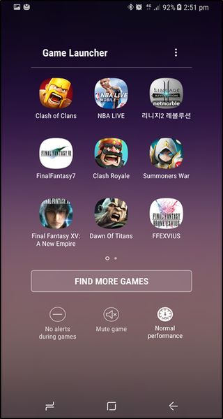 Samsung Galaxy Note 10+ Game Launcher not available on AT&T