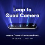Realme to unveil first 64 MP quad camera phone in India on August 8