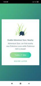 Pokemon Go Adventure Sync Nearby