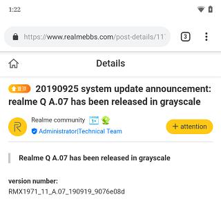 Realme-Q-August-update