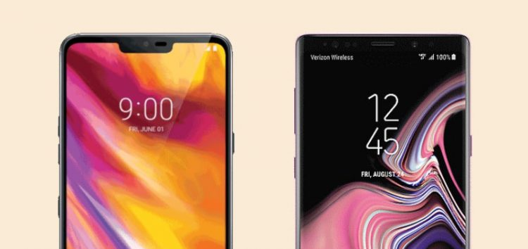 Verizon Samsung Galaxy Note 9 & US Cellular LG G7 receives September security update