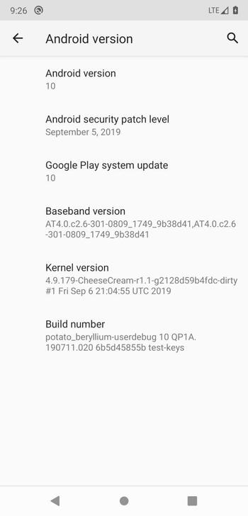 Pocophone F1 / Poco F1 Android 10 update is here, but not