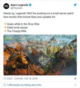 Apex Legends – October 17 Server Patch