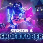 Clash Royale Season 4 update : New Card Elixir Golem, Shocktober, New Pass Royale Tier Rewards, Bonus Bank, and more