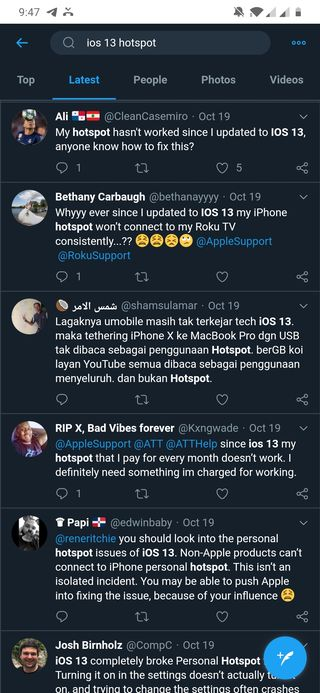 ios 13 personal hotspot issue