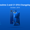 Realme 2 & C1 start receiving October update with Digital Wellbeing and more
