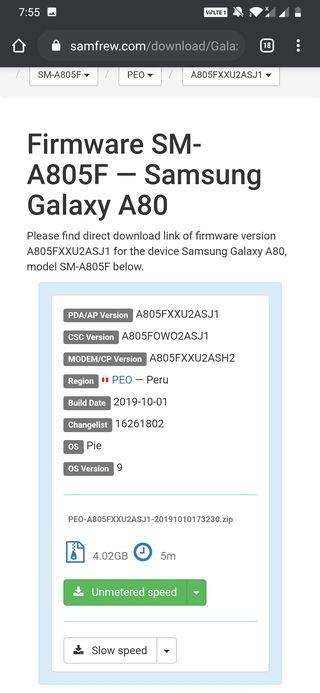 samsung galaxy a80 update