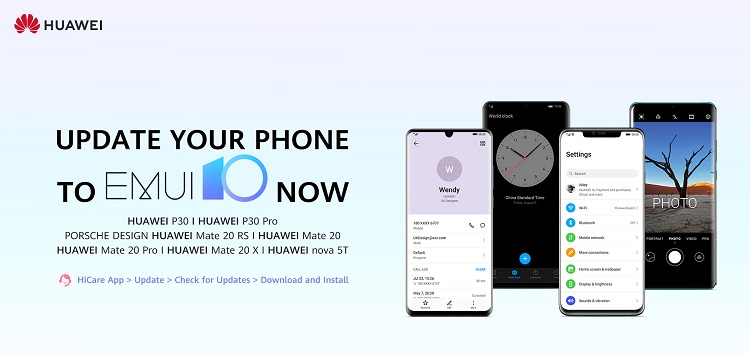 Huawei's stable EMUI 10 update based on Android 10 now available on the HiCare app