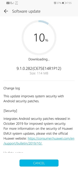 Honor-10-Lite-October-patch-India