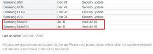 TELUS-Galaxy-Note-10-One-UI-2.0-update