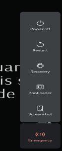 android advanced reboot menu control center