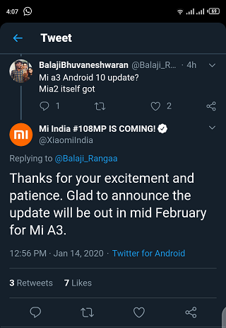 Mi-A3-Android-10-update-release-date