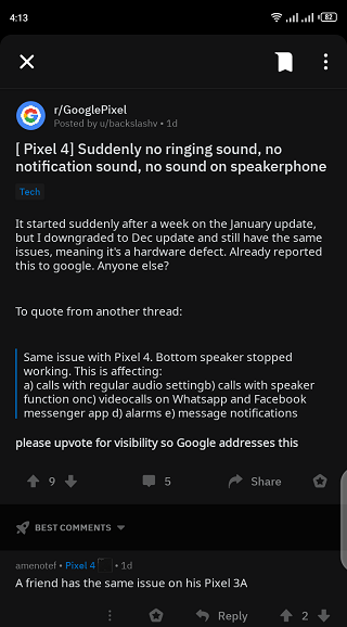 Pixel-4-bottom-speaker-broken-for-some