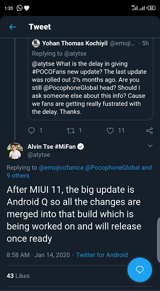 Poco-F1-Android-10-update-release