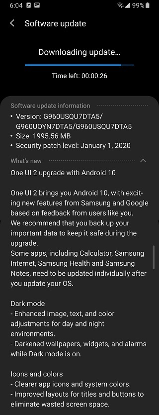 US-Galaxy-S9-Android-10-update-Xfinity-Mobile
