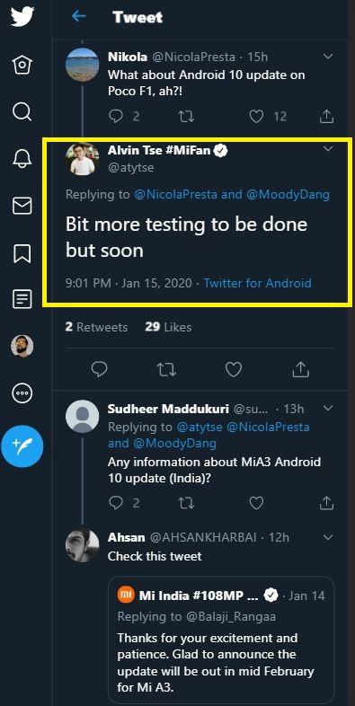 android 10 poco f1