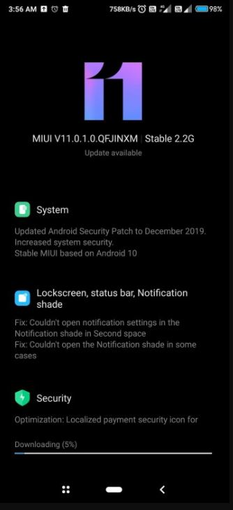 redmi k20 android 10 update