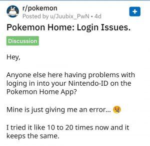 Pokemon Home update