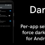 DarQ (V1.2) update brings per-app basis forced dark mode on Android 10 without root