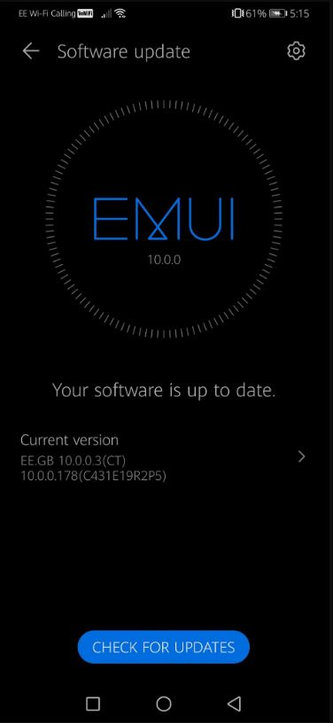ee mobile network emui 10