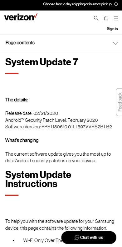 galaxy tab a 10.5 feb update