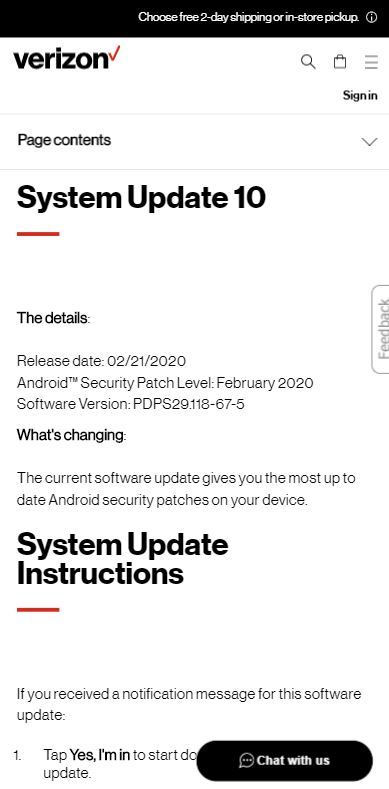 moto g6 play feb 2020 update