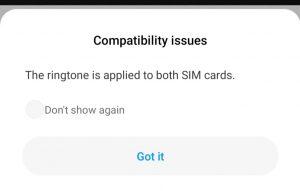 MIUI 11 dual ringtone issue