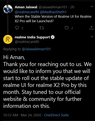 Realme-X2-Pro-Android-10-update-stable