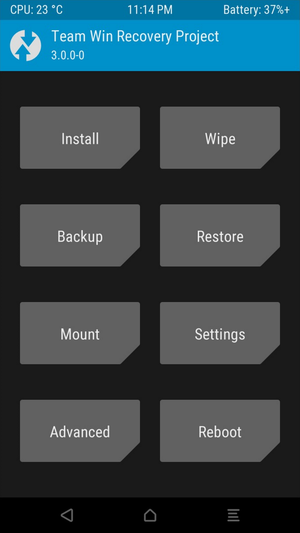 twrp interface xperia xz2