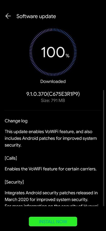 Honor Play VoWiFi update