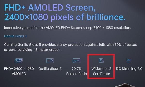 OPPO-A91-Widevine-L3-certified