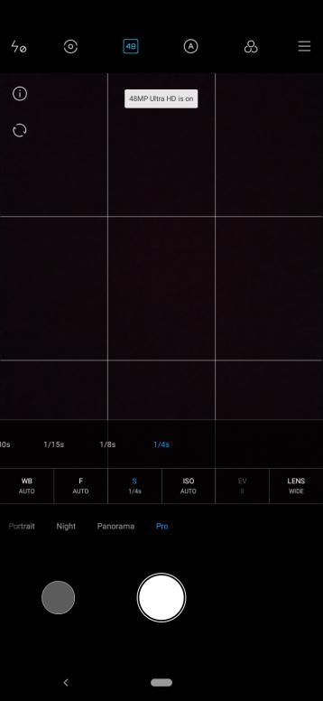 Mi A3 shutter speed pro mode