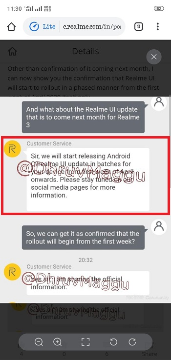 realme 3 android 10 april
