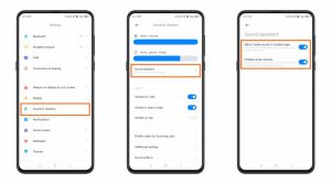 sound assistant enable in MIUI 12 xiaomi